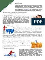 Tipos de Liderazgo, Funciones y Características