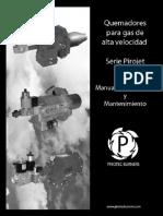 Manual de Instalación quemadores alta velocidad Pirotec