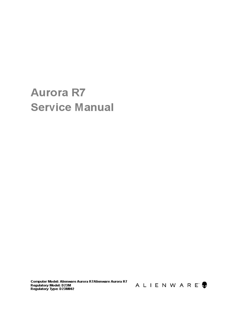 Alienware Aurora r7 Desktop Service Manual en Us | Electrical