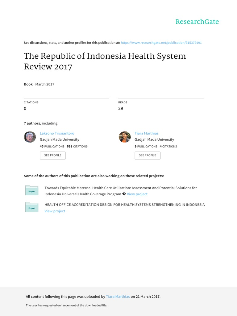 Indonesia Health System Review 2017.pdf | International ...