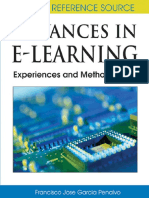 Advances in E-learning-Experiences and Methodologies