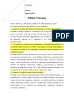 Análisis Del Articulo 284 de La Constitucion de La Republica Del Ecuador