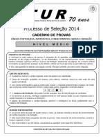 Prova Do Concurso CTUR 2013 2014 Agroecologia Ensino Medio Hospedagem Meio Ambiente