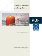 Load case analysis for a resonant Wave Energy Converter