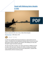 Laos pushes ahead with Mekong dams despite environmental risks.docx