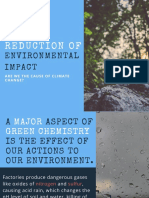 Reduction of environmental impact