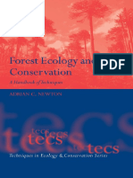 Adrian C. Newton - Forest Ecology and Conservation - A Handbook of Techniques