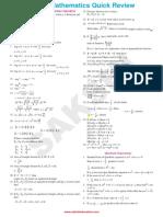 AIEEE Maths QuickReview