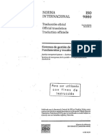 ISO 9000-2015. Fundamentos y Vocabulario