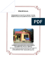 Proposal Permohonan Bantuan Buku Untuk Perpustakaan Desa Paya Meta