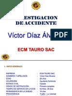 Investigacion de Analisis de Accidente Victor Diaz Alvares