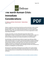 North Korean Crisis - Immediate Consideration-20170817