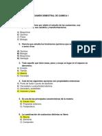 examen semestral Quimica
