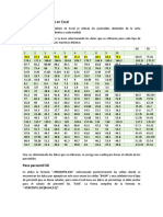 Calculo de Percentiles