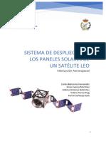 Sistema de Despliegue de Los Paneles Solares de Un Satélite LEO