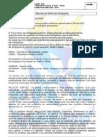 Conteúdo do Caderno de Direito das Obrigações