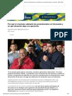 Por Qué El Chavismo Adelantó Las Presidenciales en Venezuela y en Qué Situación Deja a La Oposición - BBC Mundo