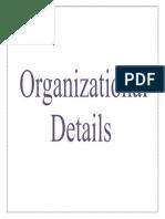 Orgnization Detials