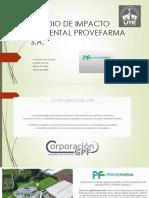 Estudio de Impacto Ambiental Provefarma s
