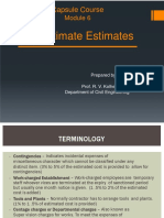 Approximate Estimates Methods