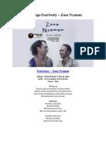Lirik Lagu Fourtwnty – Zona Nyaman
