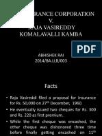 LIC vs Raja Vasireddy
