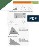 Exercícios  com semelhança de triângulos
