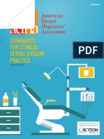 2016 Revised Standards for Clinical Dental Hygiene Practice
