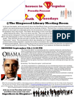 Superheroes in Disguise Screening Flyer - Obama Deception