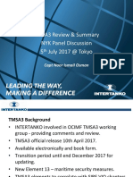 TMSA3 Review and Study NYK Panel Discussion Jul 17