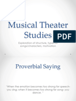 Musical Theater Structure
