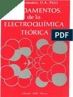 Fundamentos de La Electroquimica Teorica