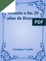Tributo a Los 29 Anos de Renace Enrique Conde