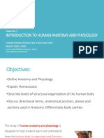 Lesson No. 1 Introduction to Human Anatomy and Physiology