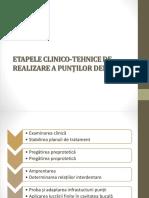Etapele clinico-tehnice de realizare a puntilor dentare PPT