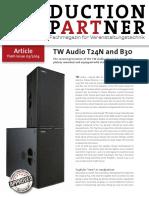 TW AUDiO T24N Tests Production Partner Reprint T24N En