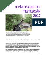 Årsberättelse För Fiskevården i Testeboån 2017