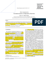 Calcination Kinetics of High Purity Lime