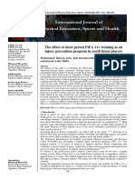 FIFA 11+ as an injury prevention program in futsal
