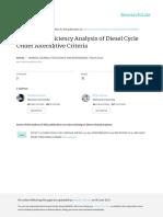 Power and Efficiency Analysis of Diesel Cycle Under Aşternative Criteria