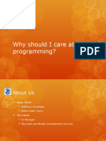 Why You Should Care About Programming