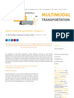 Know about Multi-Modal transportation- Chapter 3