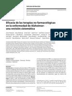 Eficacia de Las Terapias No Farmacologicas en La EA