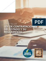 Curso Taller Ley de Contrataciones Del Estado y Su Reglamento