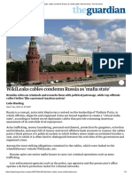 WikiLeaks Cables Condemn Russia as 'Mafia State' _ World News _ the Guardian