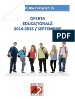 Oferta Educationala EP45 2014-2015 Invatamant Primar
