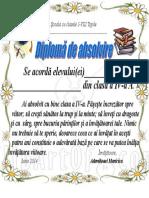Diploma Absolvire Cl.a IV-A