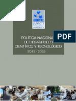 PoliticaNacionaldeDesarrolloCyT25102016
