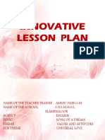 INNOVATIVE LESSON PLAN