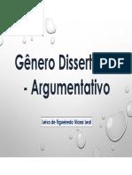 Genero Dissertativo Argumentativo